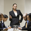 Multi-ethnic businesspeople at meeting — Stock Photo #23323556