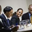 Multi-ethnic businesspeople at meeting — ストック写真