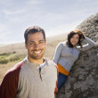 Stock Photo: Multi-ethnic couple in sunlight