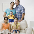 Portrait of multi-ethnic family — Stock Photo