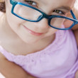 Girl wearing eyeglasses — Stock Photo