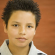 Hispanic boy with spiked hair — Stock Photo