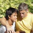 Father and son hugging — Stockfoto #23326122