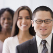 Row of multi-ethnic businesspeople — Stock Photo