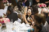 Hispanic family at wedding — Stock Photo