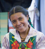 Portrait of indigenous Mexican woman — Stock Photo