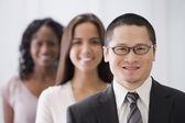 Row of multi-ethnic businesspeople — Stock Photo