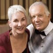 Portrait of well dressed senior couple — Stock Photo