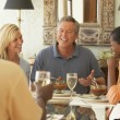 Friends eating at dinner party — Stock Photo #23331706