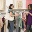 Multi-ethnic women shopping — Stock Photo