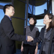 Asian businesspeople shaking hands — Stock Photo