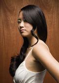 Asian woman with long hair — Stock Photo