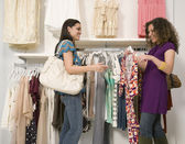 Multi-ethnic women shopping — Stock Photo