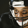 African American man wearing football uniform — Stock Photo