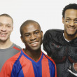 Group of multi-ethnic male athletes — Stock Photo