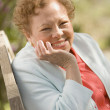 Portrait of senior Hispanic woman — Stock Photo #26293111