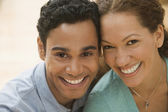 Close up of Hispanic couple smiling — Stock Photo