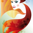 Royalty-Free Stock Imagen vectorial: Autumn_face