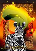 Africa_zebra — Stock Vector