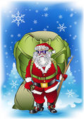 Santa claus cargo — Stock Vector