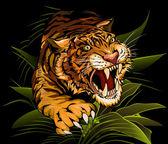 De jacht tijger — Stockvector