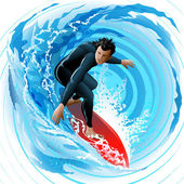 The Surfer — Stock Vector