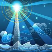 Digital lighthouse — Stok Vektör