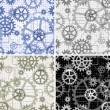 Seamless gears pattern — Stock Vector
