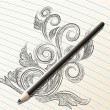 Pencil sketch — Vettoriali Stock