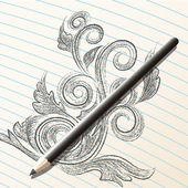 Pencil sketch — Stock Vector