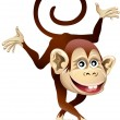 Cheerful monkey — Stock Vector #36794959