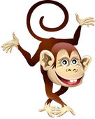 Cheerful monkey — Stock Vector
