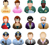 Corporation people icon set — Stock Vector