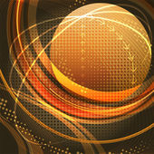 Media globe in gold — Stock Vector