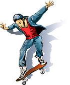 The Skateboarder — Stock Vector