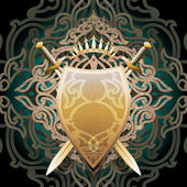 Amber shield — Stock Vector