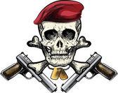 Skull in the beret — Stock Vector