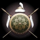 El escudo de nómada — Vector de stock