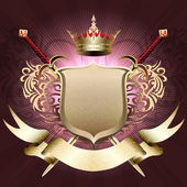 The shield with crown — Stock Vector