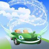 Environmentally friendly car — Stock Vector