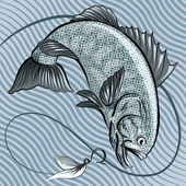 The fish in grey — Stock Vector