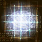 Cyber brain — Stock Photo