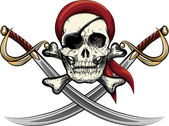 Skull with sabres — Stock Vector