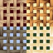 Seamless wooden lath pattern — Stock Vector