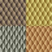 Seamless dragon skin pattern — Stock Vector