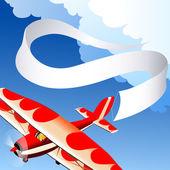 Samolot z banerem — Zdjęcie stockowe