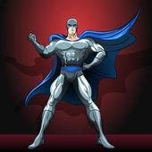 The superhero — Stock Vector