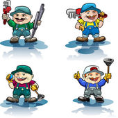 The plumber icon set — Stock Vector