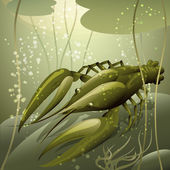 The crayfish — Vector de stock