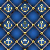 Seamless anchor pattern — Stockvector